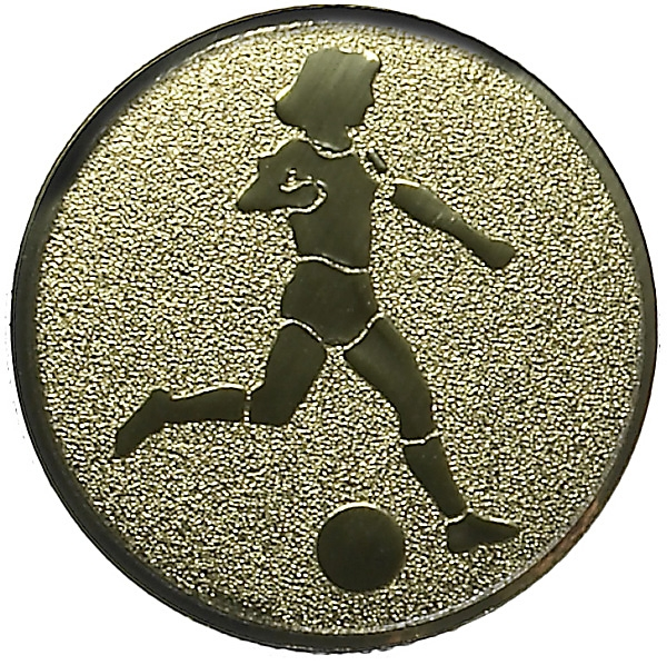 FOOTBALL FEMALE 1inchMETAL CENTRE