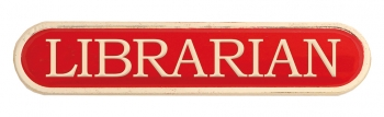 RED LIBRARIAN BAR BADGE