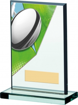 6inchRUGBY ACRYLIC GLASS AWARD T/59