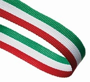RED WHITE GREEN 22MM RIBBON