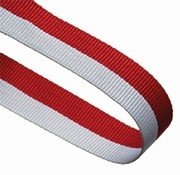 RED WHITE 22MM RIBBON