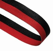 BLACK RED 22MM RIBBON