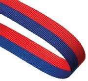 BLUE RED 22MM RIBBON