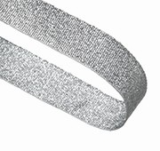GLITTER SILVER 22MM  RIBBON