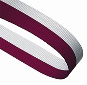 MAROON WHITE 22MM RIBBON
