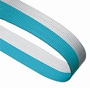 LIGHT BLUE AND WHITE 22MM RIBBON