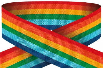 22mm RAINBOW RIBBON  PACK 100