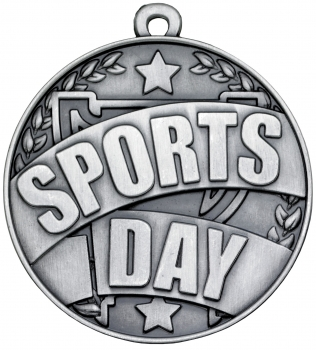 50mm SILVER SPORTS DAY MEDAL