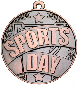 50mm BRONZE SPORTS DAY MEDAL