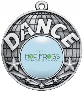 50mm SILVER DANCE MEDAL