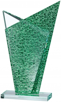 9inch GREEN CLEAR GLASS