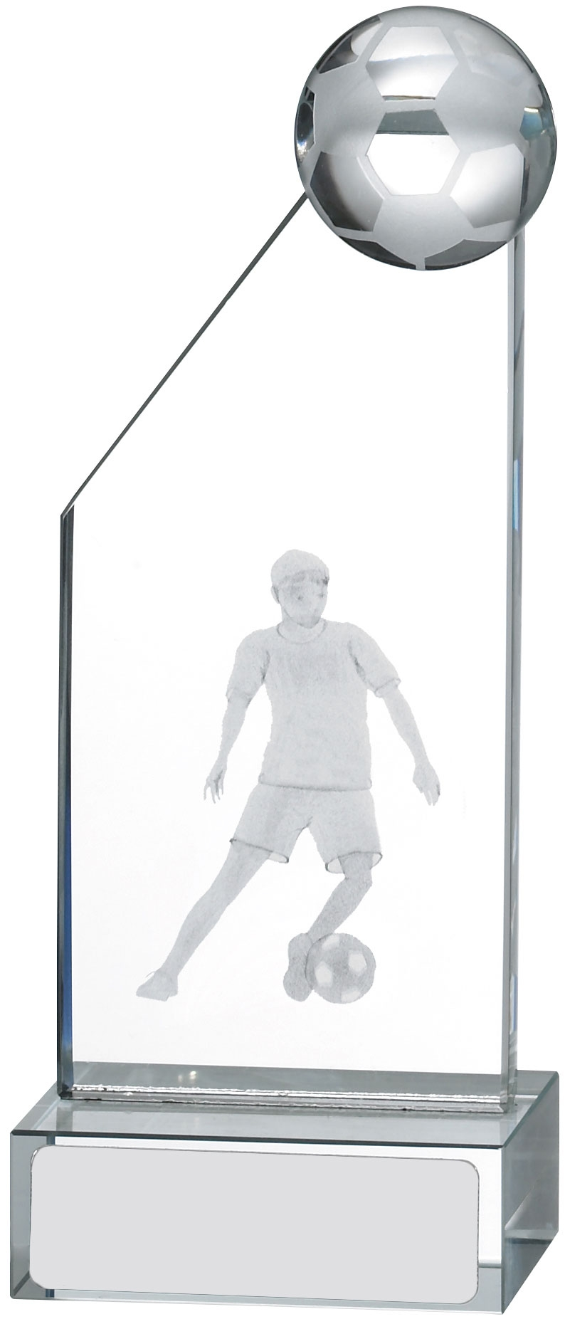 105MM ENGRAVED FOOTBALL GLASS T/31        30/case