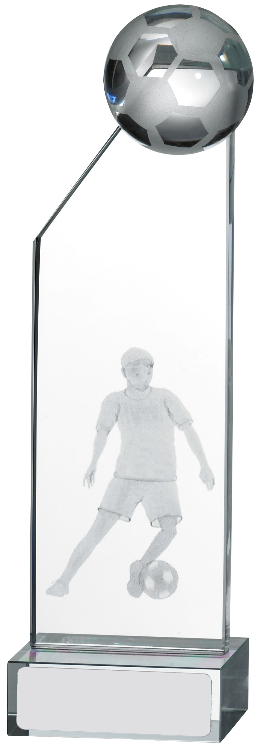 145MM ENGRAVED FOOTBALL GLASS T/31      20/case