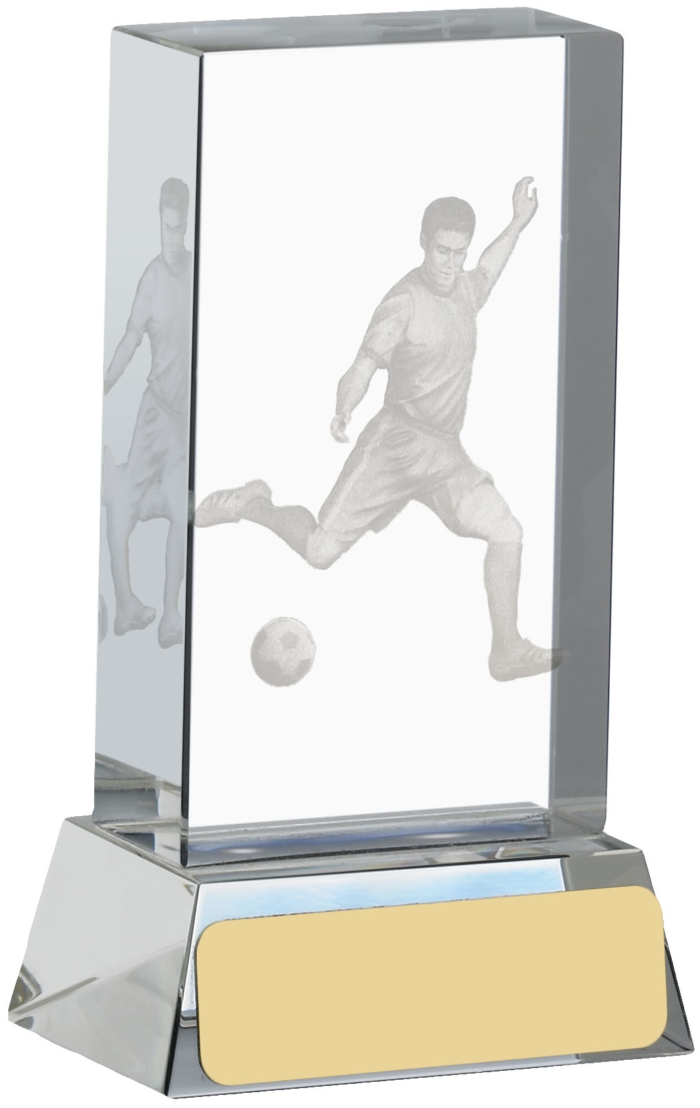 4inch FOOTBALL ETCHED GLASS BLOCK