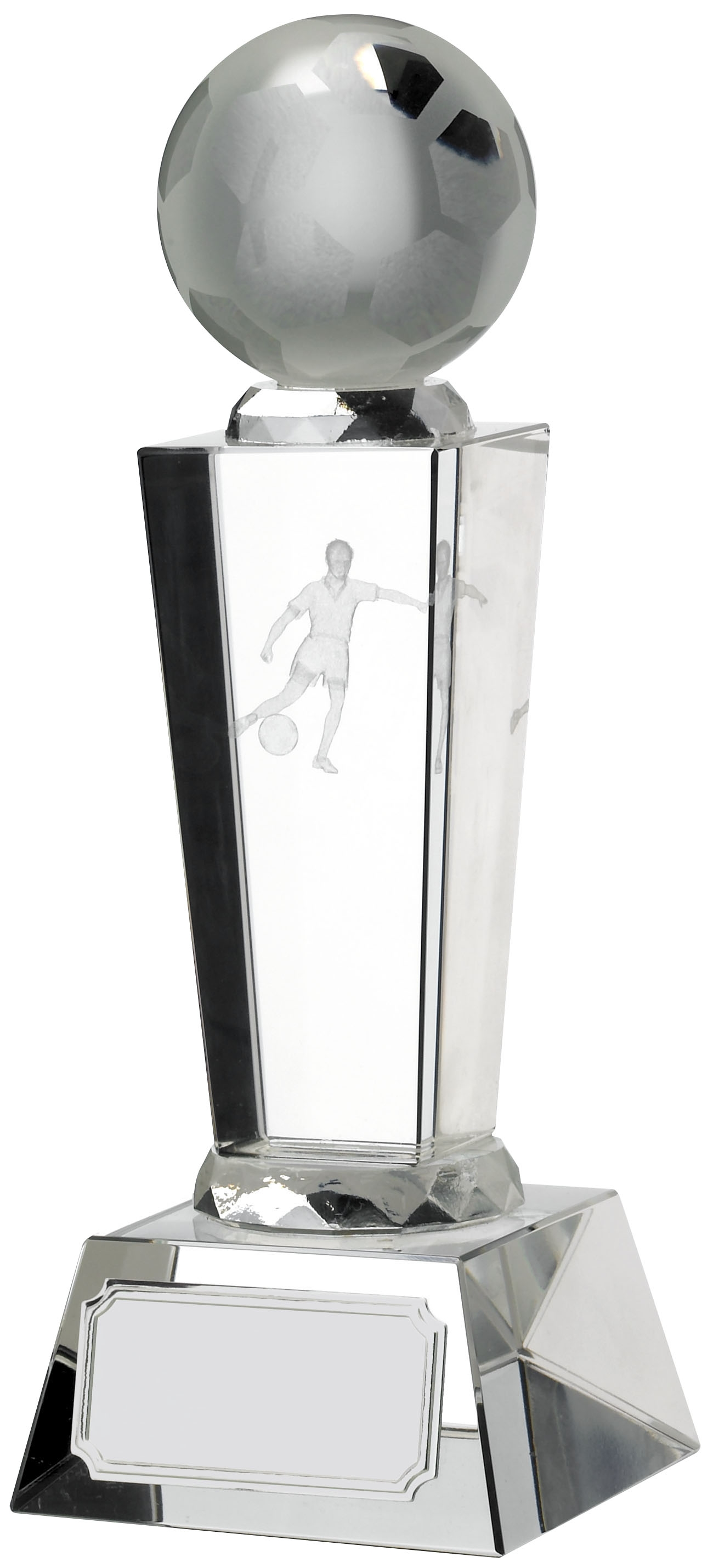 6.75inch FOOTBALL GLASS WITH BALL