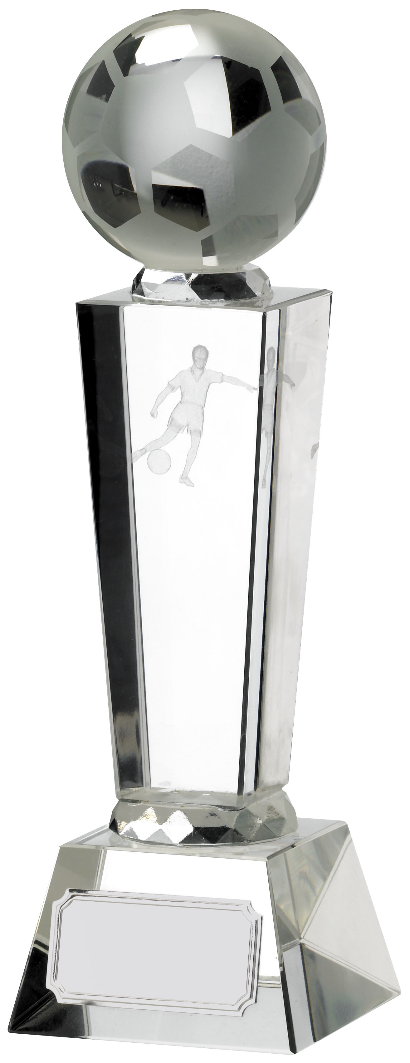 8.5inch FOOTBALL GLASS WITH BALL
