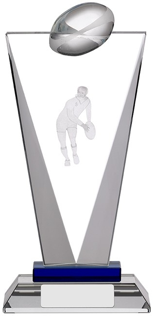 8inchPINNACLE GLASS RUGBY AWARD