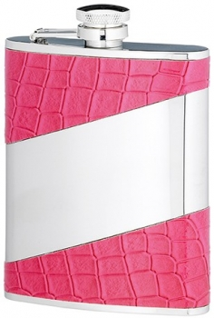 6 OUNCE PINK STAINLESS STEEL FLASK