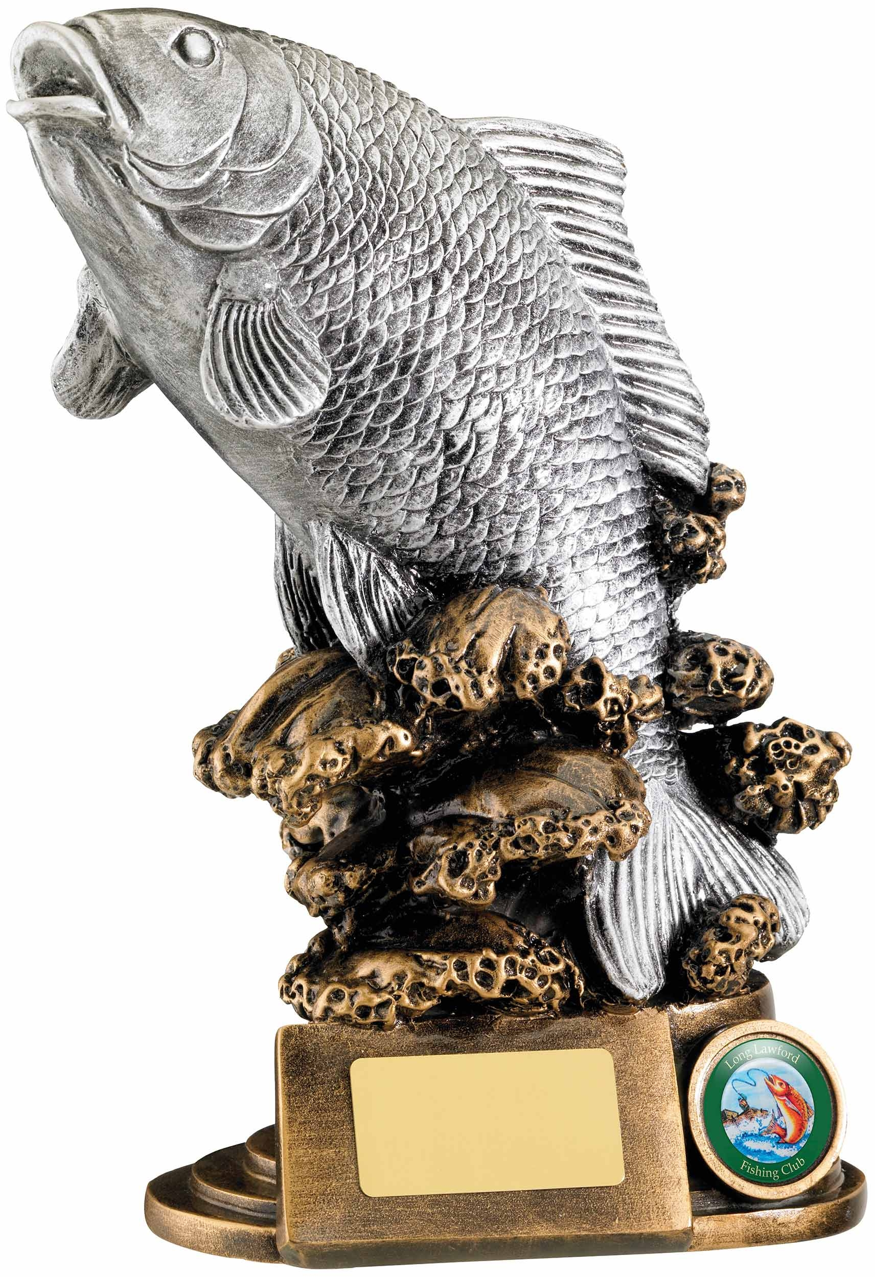 9inchFISH AWARD IN SILVER
