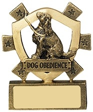 3 1/8inchDOG OBEDIENCE MINI SHIELD