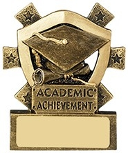 3 1/8inchACADEMIC ACHIEVEMENT MINI SHIELD