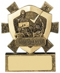 "3 1/8""ATTENDANCE MINI SHIELD"