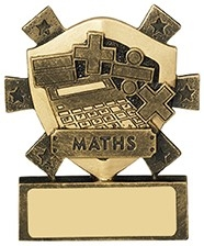 3 1/8inchMATHS MINI SHIELD