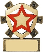 3 1/8inchRED STAR MINI SHIELD