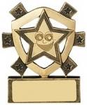 "3 1/8""SMILEY STAR MINI SHIELD"