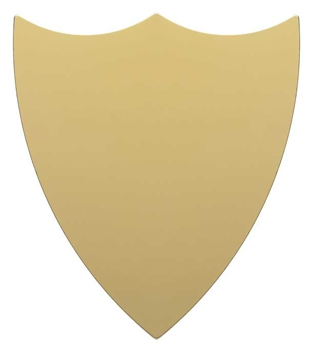 GOLD TRIM SHIELD 3.75inch