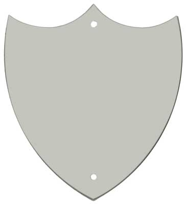 CHROME TRIM SHIELD 1inch