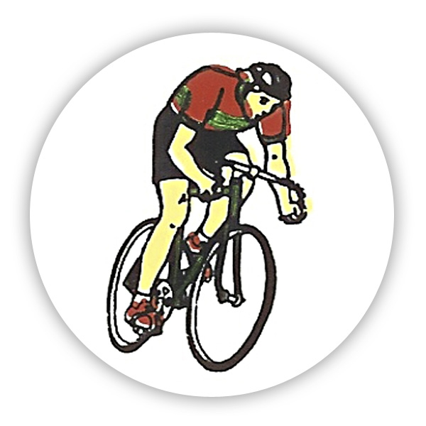 CYCLING RACE MALE 1inchVINYL CENTRE