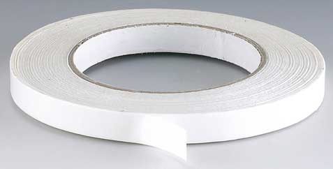 WHITE DOUBLE SIDED TAPE 0.5inch 100 MTRS