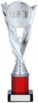 10.25inch SILVER & RED HOLDER TROPHY