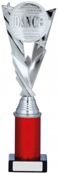 11.25inch SILVER & RED HOLDER TROPHY