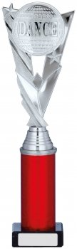 12.25inch SILVER & RED HOLDER TROPHY