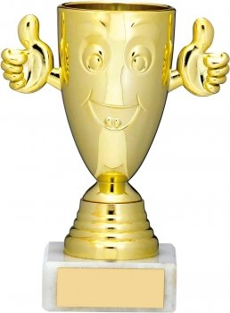 5inch GOLD HAPPY CUP TROPHY