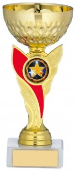 6inch GOLD & RED TROPHY