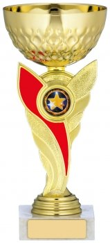 7.5inch GOLD & RED TROPHY
