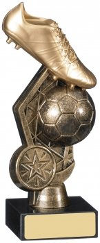 6.25inch FOOTBALL BOOT BALL TROPHY