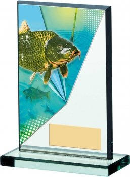 5.25inch FISHING ACRYLIC AWARD T/89