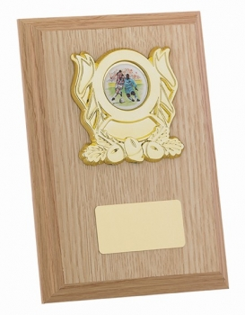 6InchLIGHT OAK FINISH PLAQUE