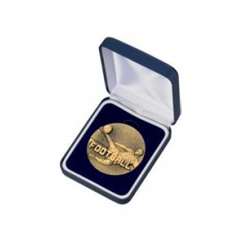 60mm FOOTBALL MEDAL AND BOX T/177