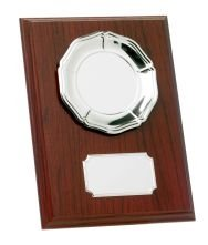 8inchMAHOGANY PLAQUE WITH TRAY T/147