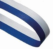 BLUE WHITE 22MM RIBBON
