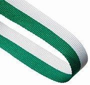 GREEN WHITE 22MM RIBBON