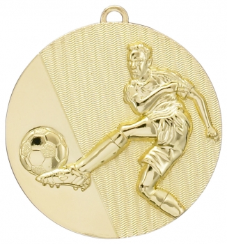 50MM GOLD FOOTBALL MEDAL T/27/139