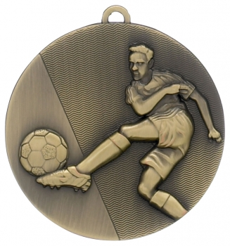 50MM BRONZE FOOTBALL MEDAL T/27/139