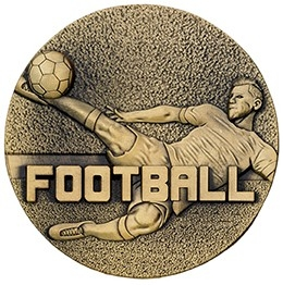 60mm FOOTBALL MEDAL GOLD