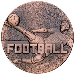 60mm FOOTBALL MEDAL BRONZE